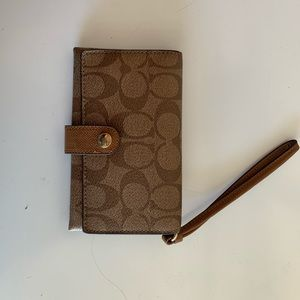 Coach Wristlet/Phone Case